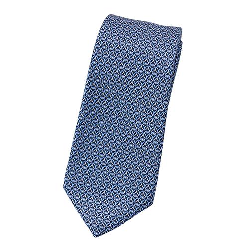 ブルガリ ネクタイ 241909 BVLGARI メンズ プリント デザイン ダークブルー/ブルー/グレー 紙袋付き