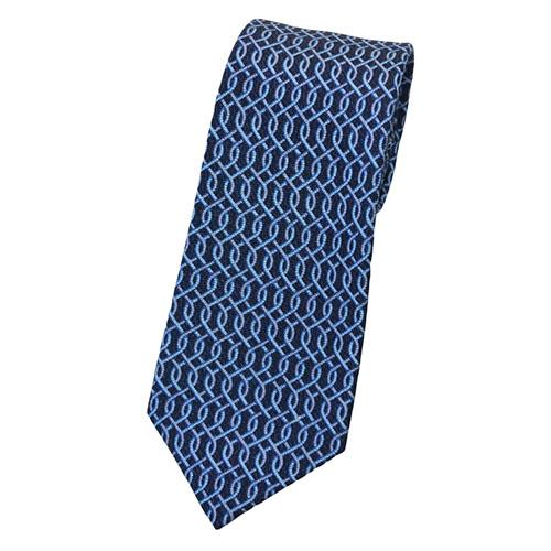 ブルガリ ネクタイ 242175 BVLGARI メンズ プリント デザイン ネイビー/ブルー 紙袋付き あす楽対応