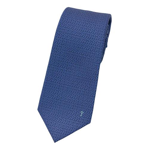 ブルガリ ネクタイ 242225 BVLGARI メンズ ジャガード デザイン ハートキー ネイビー/ブルー/ペールグリーン 紙袋付き