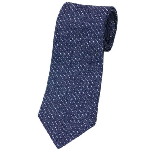 ブルガリ ネクタイ 242288 BVLGARI メンズ ジャガード デザイン DOUBLE COMET ネイビー/ホワイト 紙袋付き あす楽対応