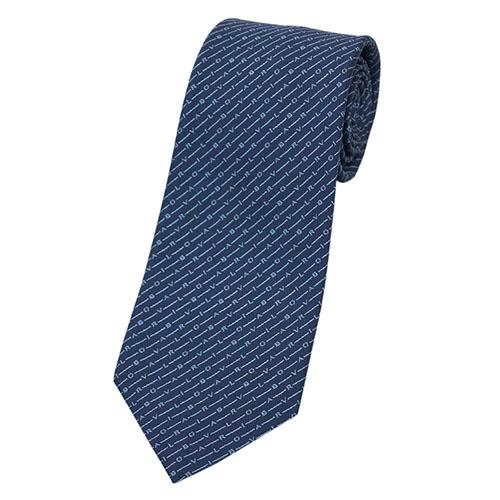 ブルガリ ネクタイ 242545 BVLGARI メンズ ジャガード デザイン LOGO MORSE ネイビー/ブルー 紙袋付き あす楽対応