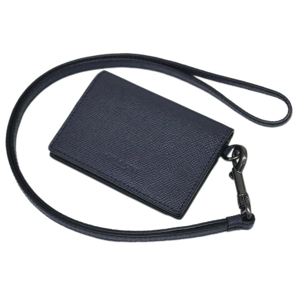 コーチ カードケース F32632-QBBHP COACH メンズ IDホルダー ランヤード クロスグレインレザー ミッドナイトネイビー アウトレット あす楽対応