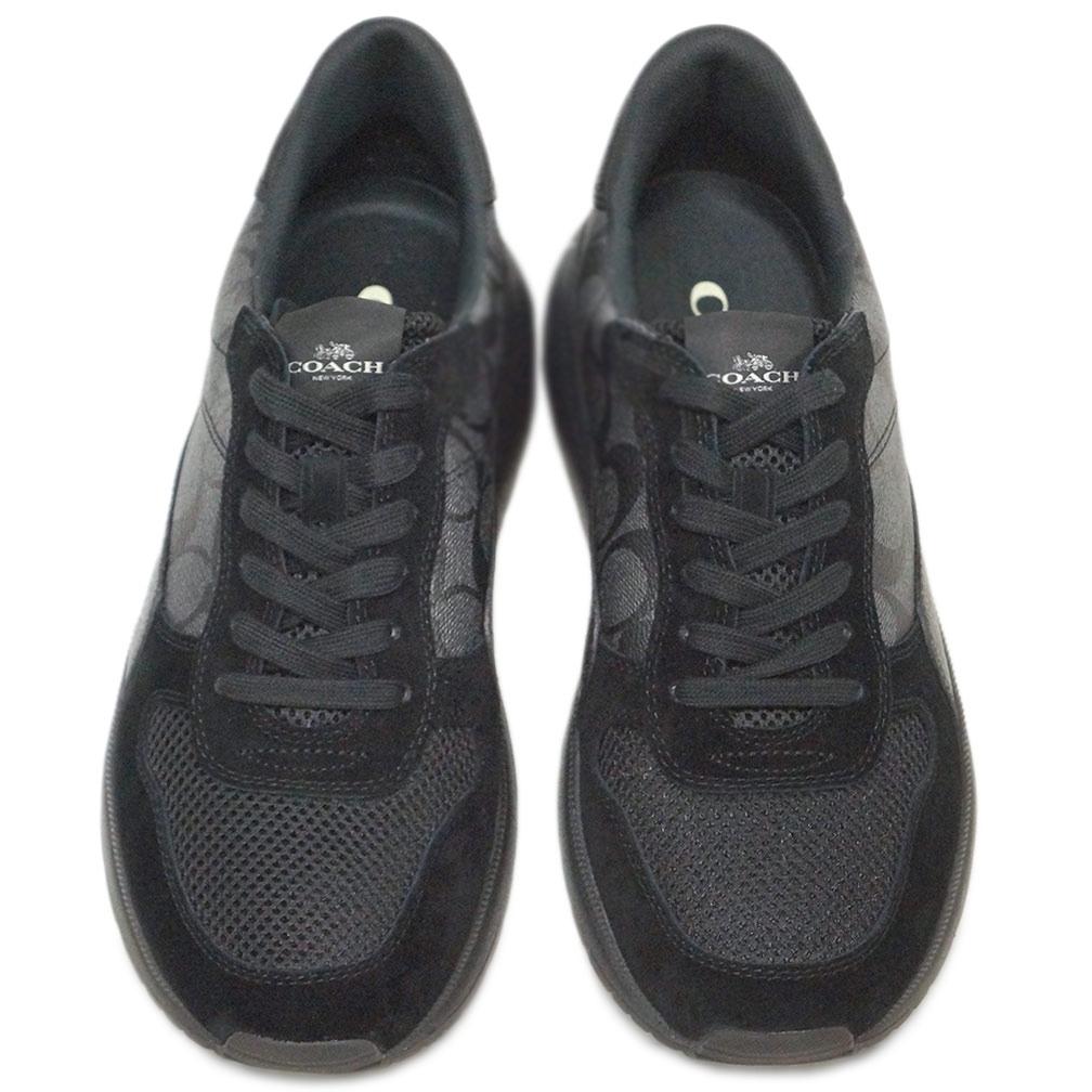 コーチ シューズ FG3511-BK/BK COACH メンズ スニーカー テック ランナー シグネチャー ブラック/ブラック サイズ 9 D(27cm) アウトレット