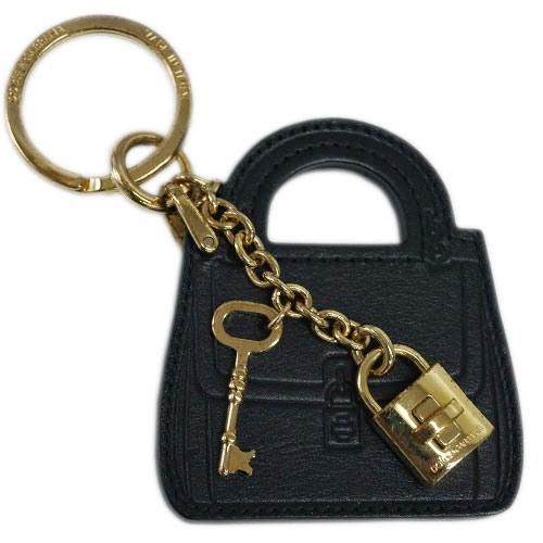 ドルチェ&ガッバーナ キーリング BI0545 DOLCE&GABBANA キーホルダー バッグモチーフ+パドロック カーフブラック ゴールド金具 わけあり アウトレット