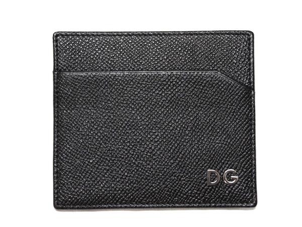 ドルチェ&ガッバーナ カードケース BP0450 シンプル名刺 型押し ブラック DGロゴ アウトレット