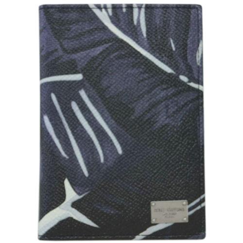 ドルチェ&ガッバーナ カードケース BP2217 DOLCE&GABBANA たて型 名刺入れ ロゴプレート BANANOプリント ブラック/グレー アウトレット あす楽対応