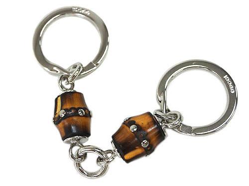 グッチ キーリング 335977-8298 バンブー+シルバー金具