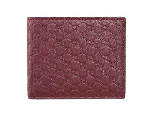 グッチ 財布 365466-6148 メンズ 二つ折り 札入れ マイクログッチッシマ ダークレッド あす楽対応