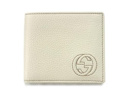 グッチ 財布 365483-9022 メンズ 二つ折り 札入れ ソーホー 型押しカーフ アイボリー