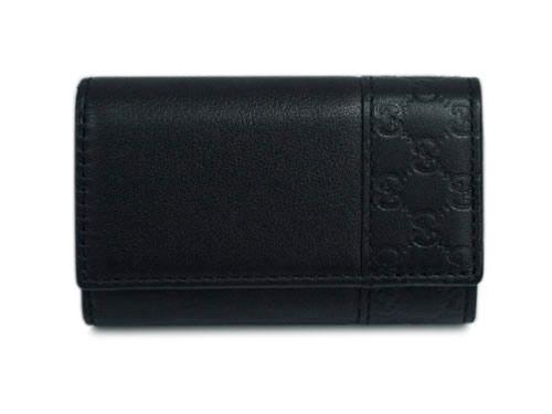 グッチ キーケース 256433-1000 6連キーケース マイクログッチッシマxカーフ ブラック