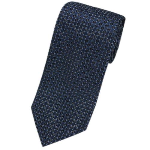 グッチ ネクタイ 349391-4069 GUCCI メンズ ジャガード デザイン マイクロGG シルク100% ネイビー/ブラック PUNGOL アウトレット あす楽対応