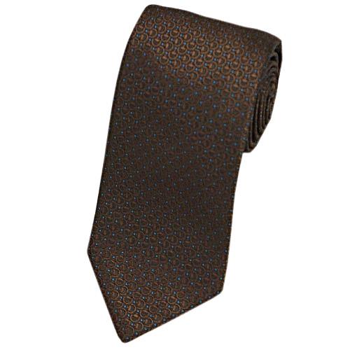 グッチ ネクタイ 388191 GUCCI メンズ ジャガード デザイン ホースビット シルク100% ブラウン/ターコイズブルー アウトレット あす楽対応
