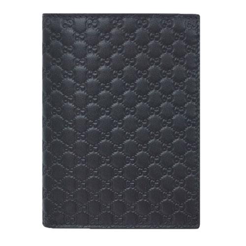 グッチ 財布 496948-1000 GUCCI メンズ 二つ折り 札入れ カードケース マイクログッチッシマ ブラック アウトレット あす楽対応