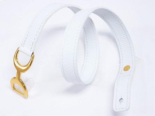 エルメス ブレスレット H066155CC01 ソルド BABY PAVANE ヴォーエプソン ブロン ホワイト ゴールド金具 Sサイズ あす楽対応