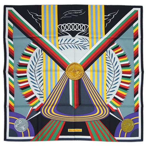 エルメス スカーフ カレ 90 ツイル LES JEUX D'HERMES ブラック/ホワイト 27421