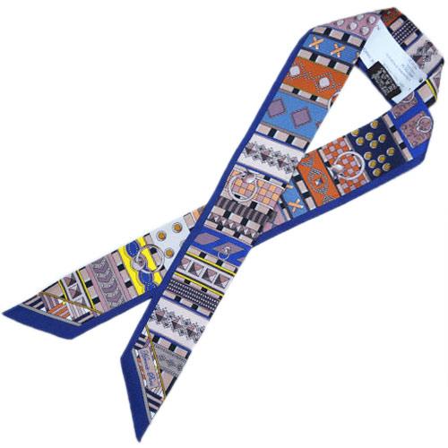 エルメス ツイリー H062770S02 ソルド スカーフ 86x5 シルクツイル パンジー/オールドローズ/イエロー