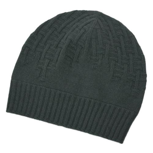 エルメス 帽子 H172005N09 HERMES ソルド メンズ ニットキャップ PACO カシミア100% H ENTREMELES VERT DE GRIS ダークグリーン あす楽対応