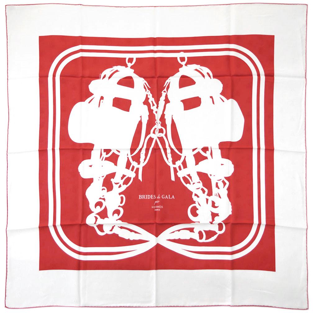 エルメス スカーフ H173129S04 HERMES ソルド カレ・タトゥアージュ 90CM ツイル シルク100% ABEILLES BRIDES DE GALA TATOO ルージュ/ホワイト 31202 あす楽対応