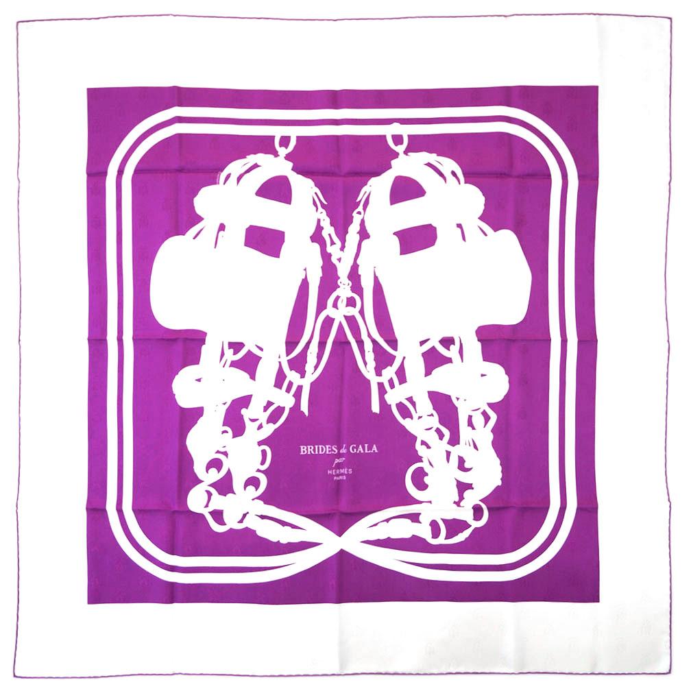 エルメス スカーフ H173129S05 HERMES ソルド カレ・タトゥアージュ 90CM ツイル シルク100% ABEILLES BRIDES DE GALA TATOO ブーゲンビリア/ホワイト 31203 あす楽対応