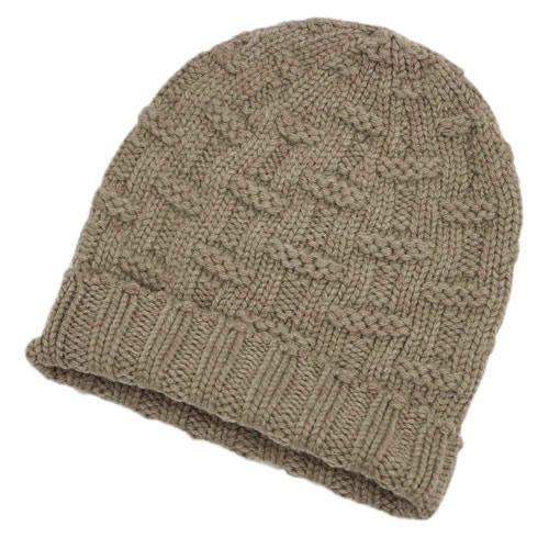 エルメス 帽子 H152080N06 HERMES ソルド メンズ ニットキャップ カシミア100% FLANEUR BEIGE ベージュ