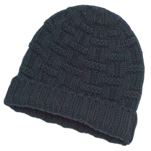 エルメス 帽子 H152080N11 HERMES ソルド メンズ ニットキャップ カシミア100% FLANEUR MARINE マリーヌ ネイビー