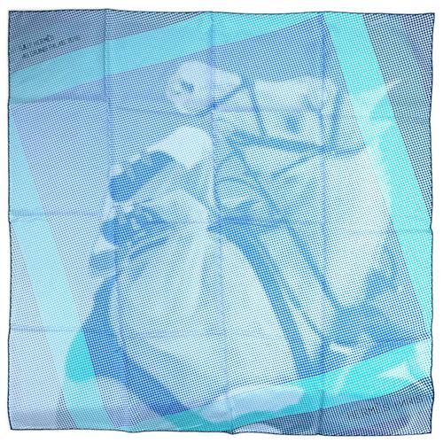 エルメス スカーフ HERMES ソルド カレ ツイル シルク100% 90CMS LE SAUT H スカイブルー/ターコイズ/カナール 29219 あす楽対応