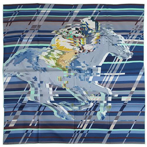 エルメス スカーフ HERMES ソルド カレ ツイル シルク100% 90CMS PHOTO FINISH ブルーグレー/ウォーターグリーン/トープ 29248 あす楽対応