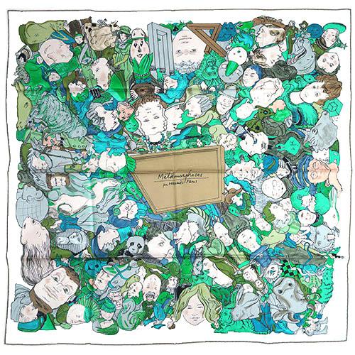 エルメス スカーフ HERMES ソルド カレ ツイル シルク100% 90CMS METAMORPHOSES PAR PARIS オフホワイト/グリーン/グレー 29253 あす楽対応