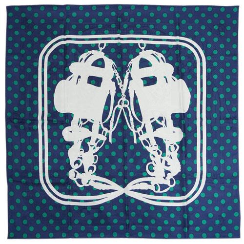 エルメス スカーフ H583032S14 HERMES ソルド カレ 90CMS ツイル シルク100% BRIDES DE GALA A POIS ネイビー/グリーン/ホワイト 29301