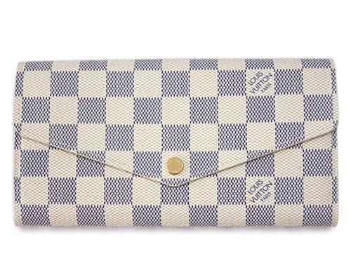 ルイヴィトン 財布 N63208 LOUIS VUITTON ヴィトン ダミエ・アズール LV ファスナー長札 長財布 ポルトフォイユ・サラ わけありセール 623