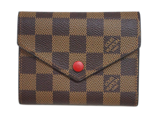 ルイヴィトン 財布 N41659 ダミエ・エベヌ LV 三つ折り財布 小銭入れ付き ポルトフォイユ・ヴィクトリーヌ