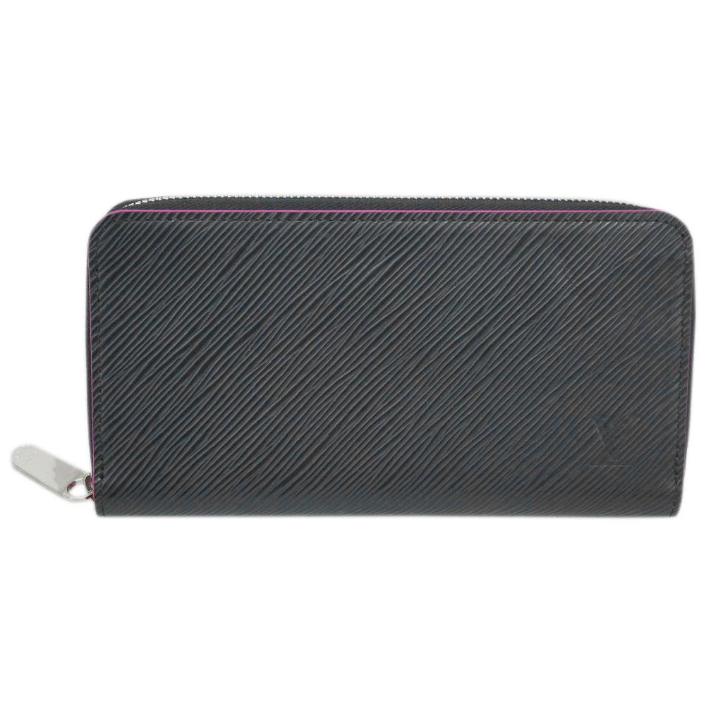 ルイヴィトン 財布 M64838 LOUIS VUITTON ヴィトン エピ LV ラウンドファスナー長財布 12枚カード ジッピー・ウォレット ノワール/ホットピンク わけありセール 650 あす楽対応