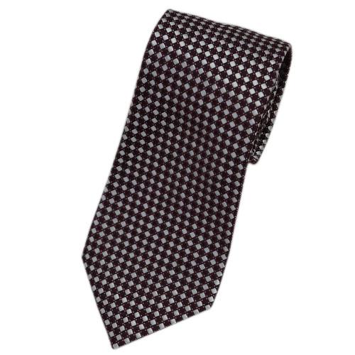 アルマーニ ネクタイ ジョルジオ アルマーニ ジャガード デザイン シルク100% バーガンディー/シルバーグレー/ピンク 29013