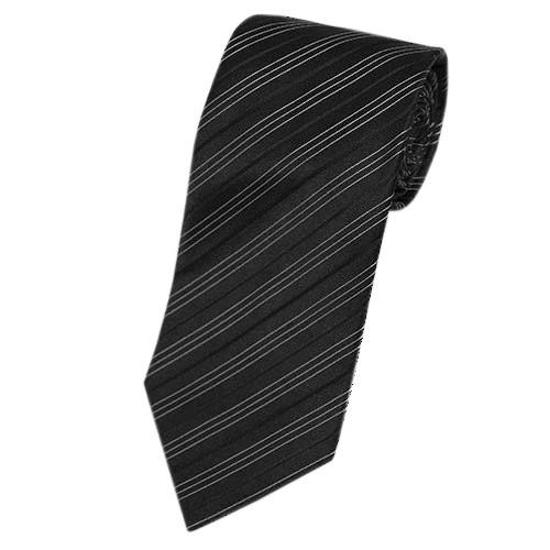 アルマーニ ネクタイ メンズ アルマーニ・コレツィオーニ ジャガード デザイン ストライプ シルク100% ブラック/ホワイト 29039