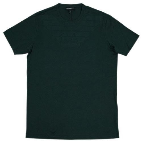 アルマーニ Tシャツ メンズ メンズ エンポリオ アルマーニ アルマーニ エンポリオ 丸首 半袖 イーグルマーク ダークグリーン 17703, ヘルシー救急BOX:28b94345 --- officewill.xsrv.jp