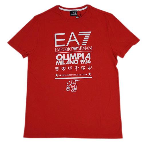 アルマーニ プリント 1936 Tシャツ メンズ エンポリオ 17709 アルマーニ 丸首 半袖 EA7 OLIMPIA MILANO 1936 プリント レッド/ホワイト Sサイズ 17709, AI ネットショップ:81fec9d0 --- officewill.xsrv.jp