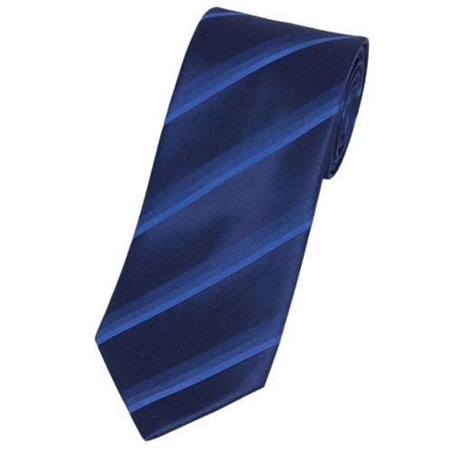ランバン LANVIN メンズ ネクタイ プリント デザイン ストライプ シルク100% ネイビー/ダークブルー/ブルー 18104