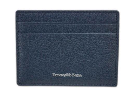 ゼニア 財布 E1072X エルメネジルド・ゼニア メンズ マネークリップ 札入れ カードケース レザー インディゴブルー アウトレット