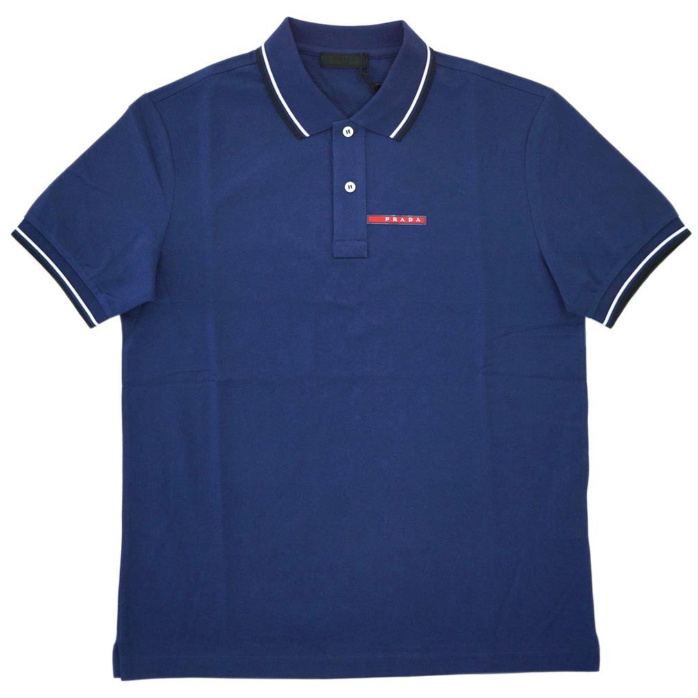 プラダ 半袖 ポロシャツ SJJ887 PRADA コットン100% メンズ 半袖 コットン100% BALTICO ブルー メンズ アウトレット あす楽対応, イズシグン:d747cf0e --- officewill.xsrv.jp