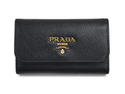 プラダ キーケース 1PG222 6連キーケース サッフィアーノ GLロゴ ネロ カーフブラック ギャランティカードなし