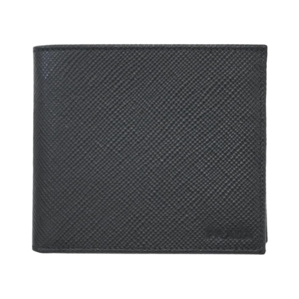 プラダ 財布 2MO738 PRADA メンズ 二つ折り 小銭入れ付き サッフィアーノ キュイール NERO ネロ カーフブラック アウトレット あす楽対応