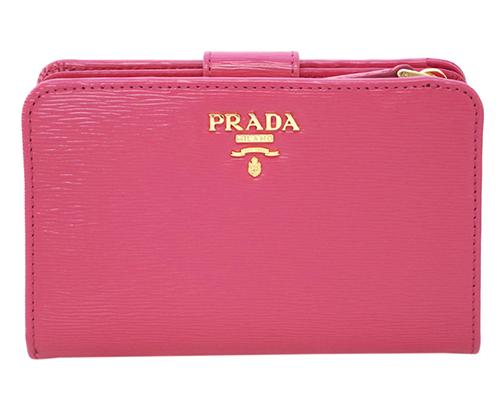 プラダ 財布 1ML225 PRADA L字ミディアムジップ財布 ヴィテッロ ムーヴ PEONIA ペオニア カーフピンク アウトレット