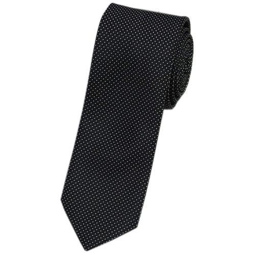 プラダ ネクタイ UCR75 PRADA メンズ ジャガード デザイン マイクロドット FUMO カーボンブラック アウトレット あす楽対応