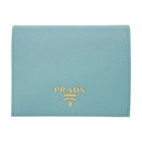 5d2ea3aa1928 プラダ 財布 1MV204 PRADA 二つ折り 小 小銭入れ付き ゴールド金具 サッフィアーノ ANICE アニス