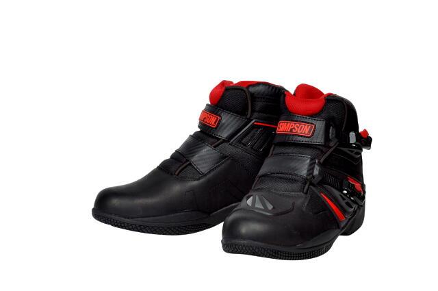 【あす楽】SPB-301【レッド】ライディングブーツ シンプソン【防水】【店頭受取対応商品】