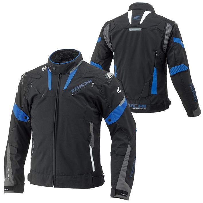 【あす楽】【メンズ】RSJ718【ブラック/ブルー】【XLサイズ】アームド オールシーズン ジャケット【オールシーズン】【撥水加工】【脱着式防寒インナー装備】【肩・肘・背中・胸プロテクター標準装備】