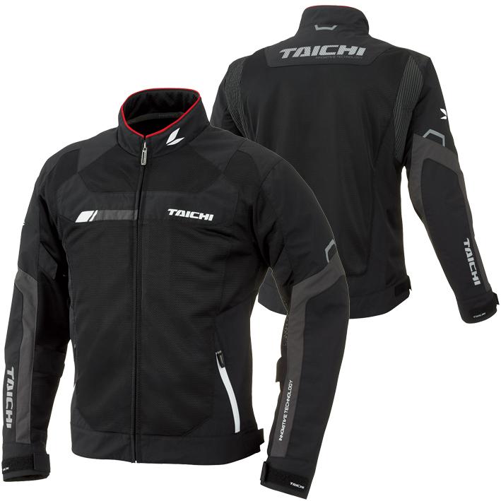 アールエスタイチ/RS Taichi クロスオーバーメッシュジャケット メンズ/通気性/軽量 ブラック/ホワイト L RSJ320