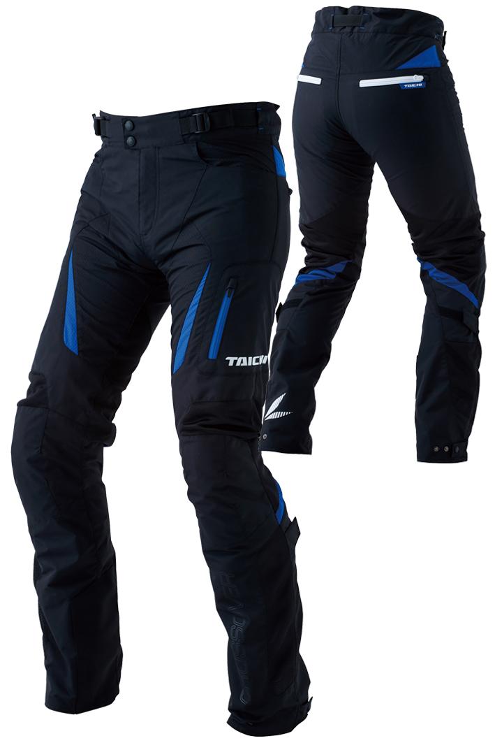 【あす楽】【メンズ】RSY256【ブラック/ブルー】【Lサイズ】クロスオーバー メッシュ パンツ アールエスタイチ【膝CEレベル2】【膝・臀部プロテクター標準装備】
