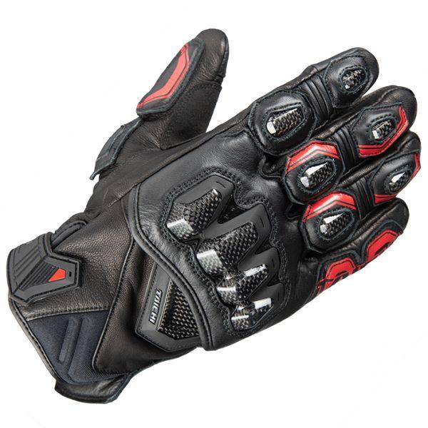 2021SS オンラインショッピング アールエスタイチ ハイプロテクションレザーグローブ バイク メンズ ブラック RST422 買い取り Lサイズ 通年 レッド