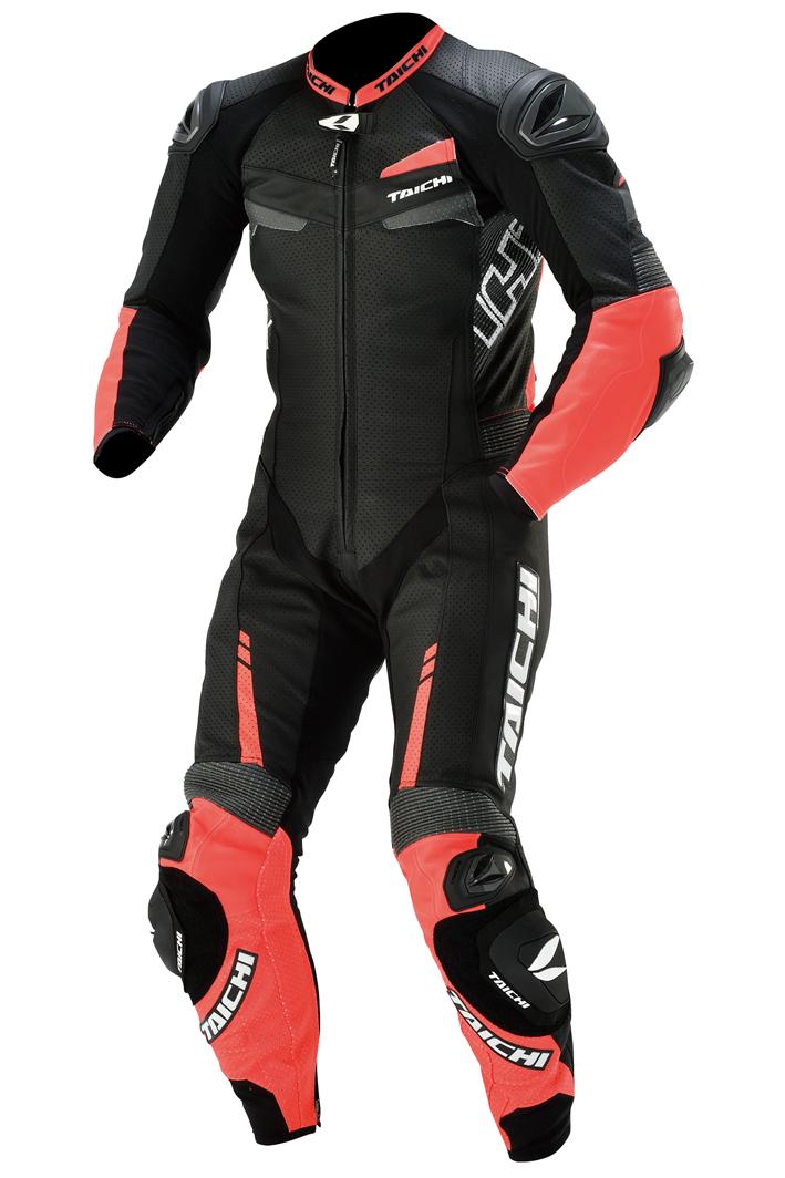 【メンズ】NXL305【ネオン レッド/ブラック】【S/48サイズ】GP-WRX R305 RACING SUIT【T.R.A.D.】【TIPS】【肩・肘・膝CEプロテクター装備】